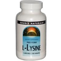 L-lysine 1000mg Source Naturals